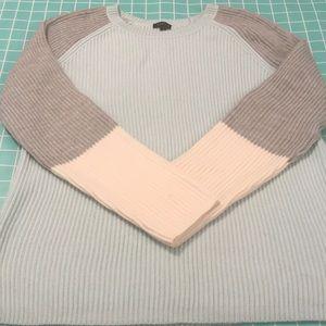 Talbots Super Soft Color Block Sweater Medium NWOT